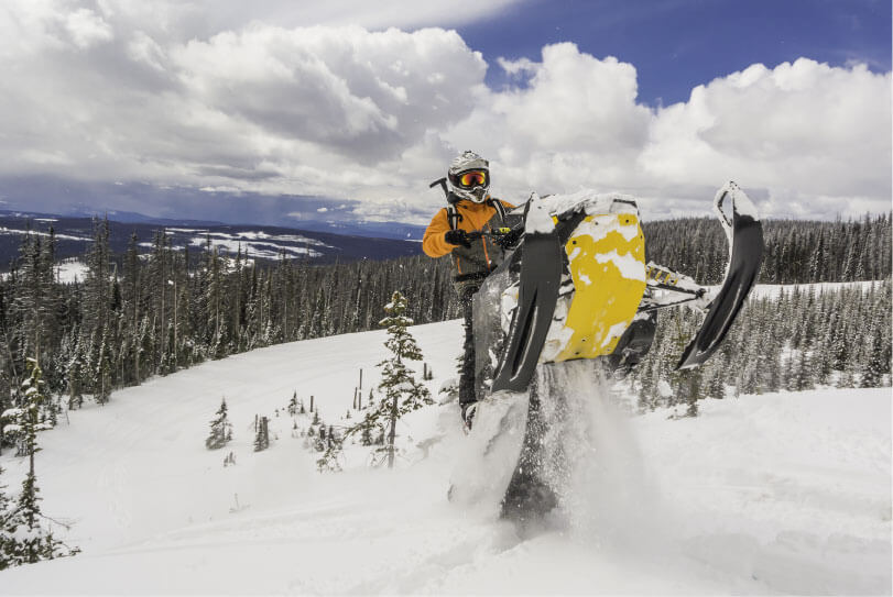Snowmobile the hundreds of trails the Eastern Sierra?s has to offer